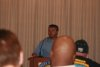 MSUWC President Patrick Dillon (speaking)